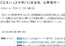 速報:中田がオープン戦の最終戦で2打席連発!