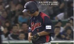 中田の走塁に喝・・・プロ野球選抜vs大学選抜